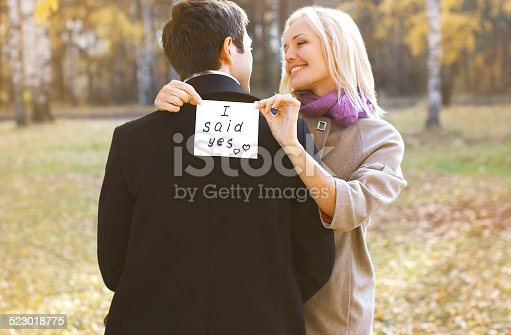 1129577106 istock photo Love, relationships, engagement and wedding concept - man propos 523018775