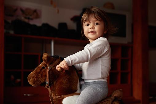 Love riding my rocking horse