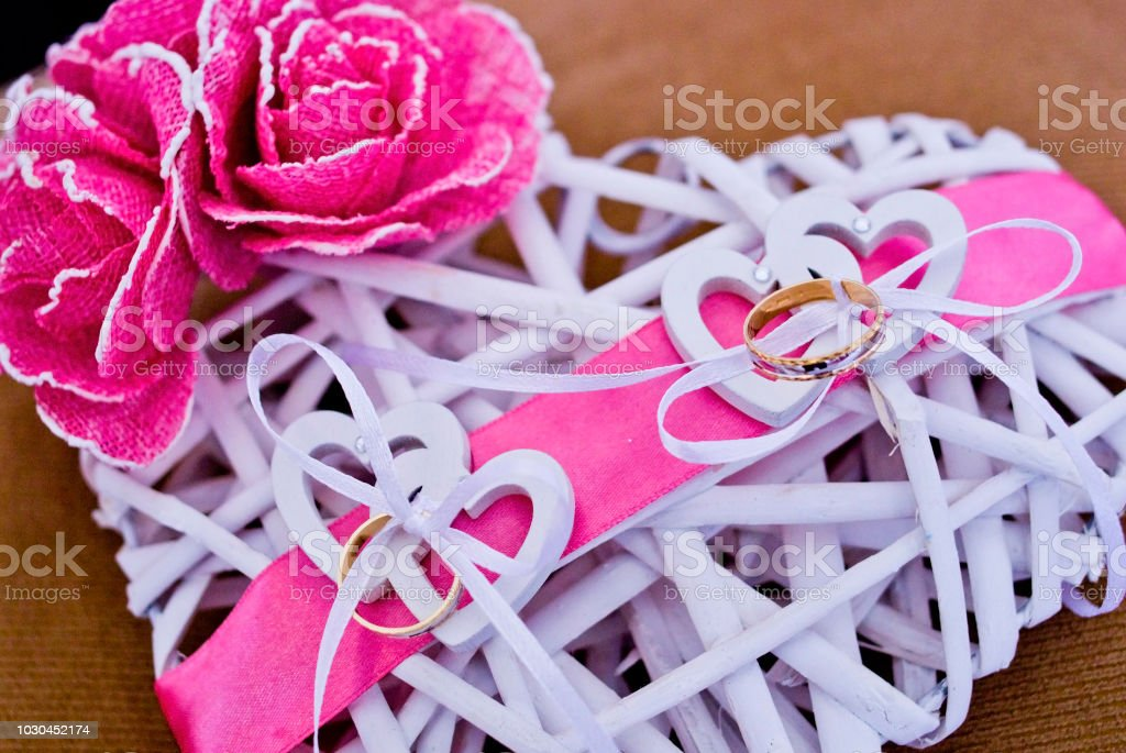 love rings of the newlyweds ready to be donated and preserved for a...