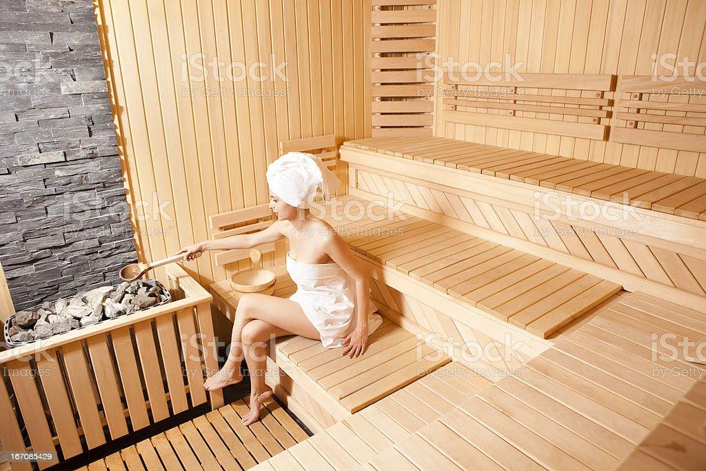 I Love Sauna stock photo