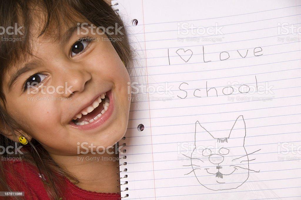 I love school! royalty-free stock photo