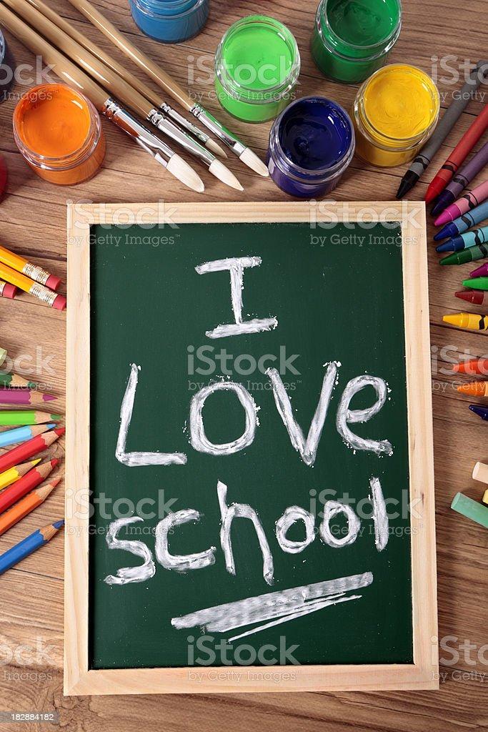 I love school royalty-free stock photo