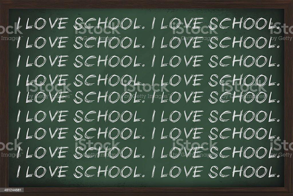 I love school stock photo