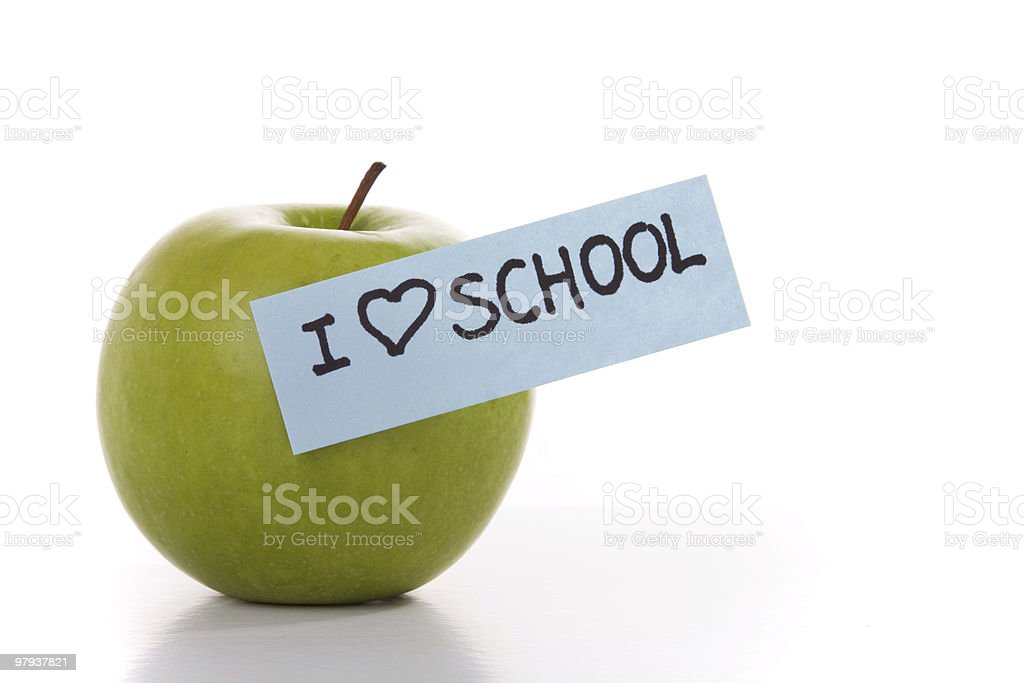 I love school royalty-free stock photo