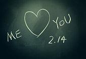 love scrawl on blackboard,valentine's day