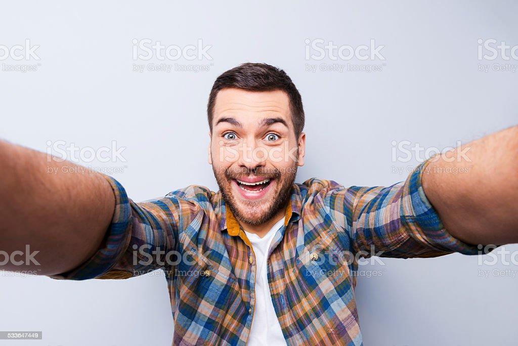 I love selfie! stock photo