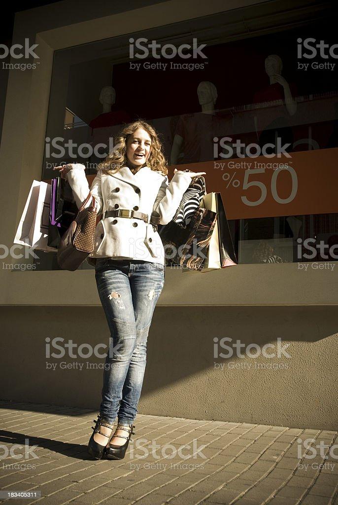 I Love Shopping stock photo