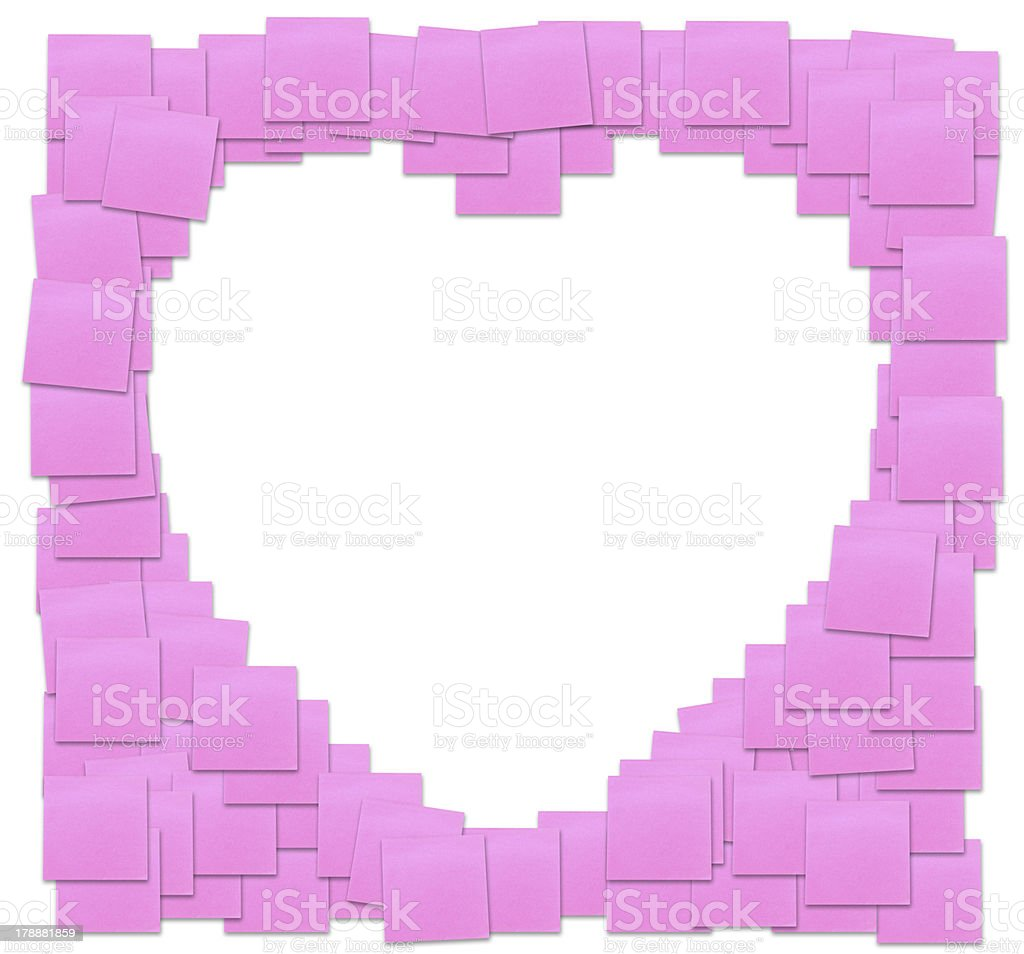 love sign from reminder note royalty-free stock photo