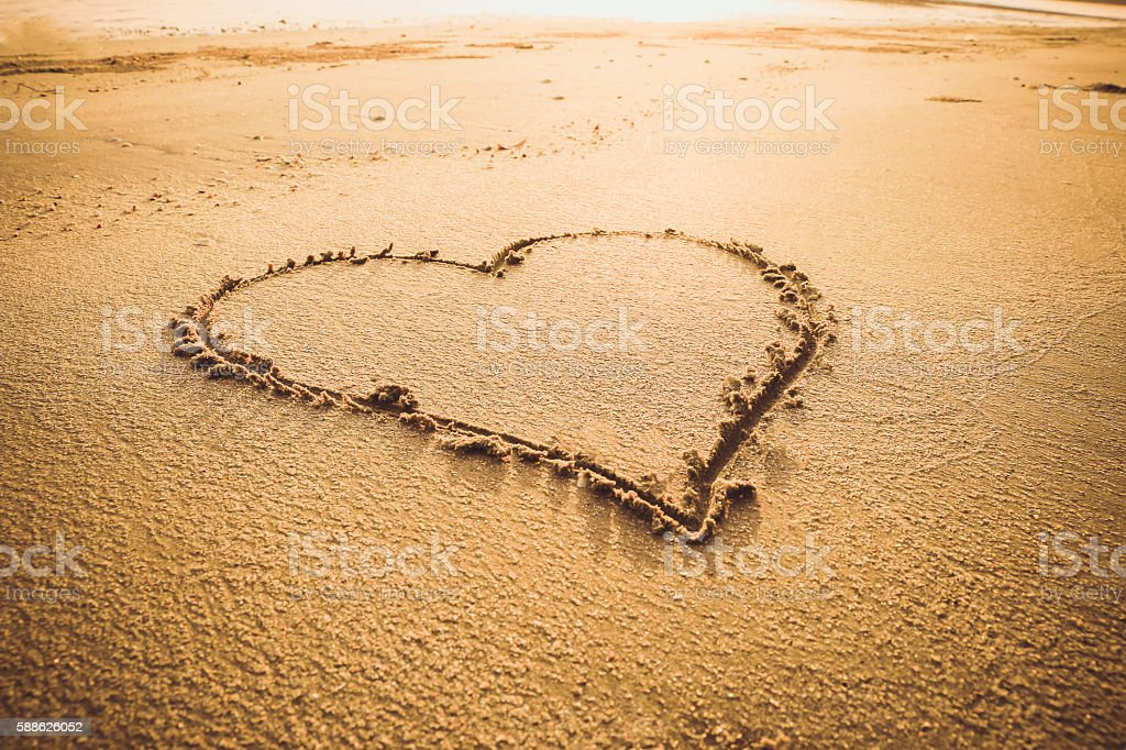 Love sign writing stock photo