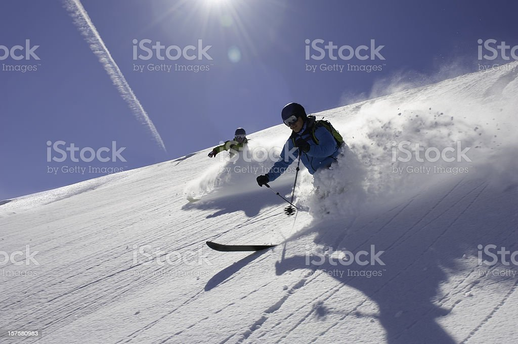 I love skiing in Powder snow royalty-free stock photo