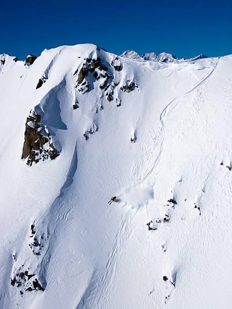 I love skiing in Powder snow XXXL stock photo