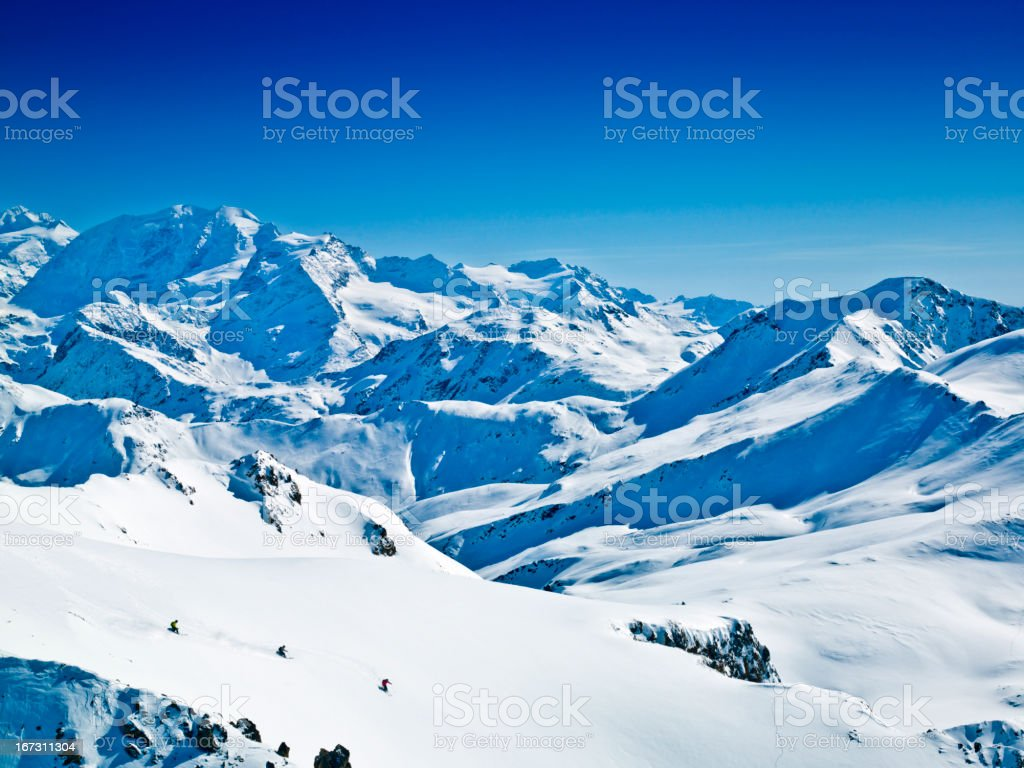 I love skiing in Powder snow XXXL royalty-free stock photo