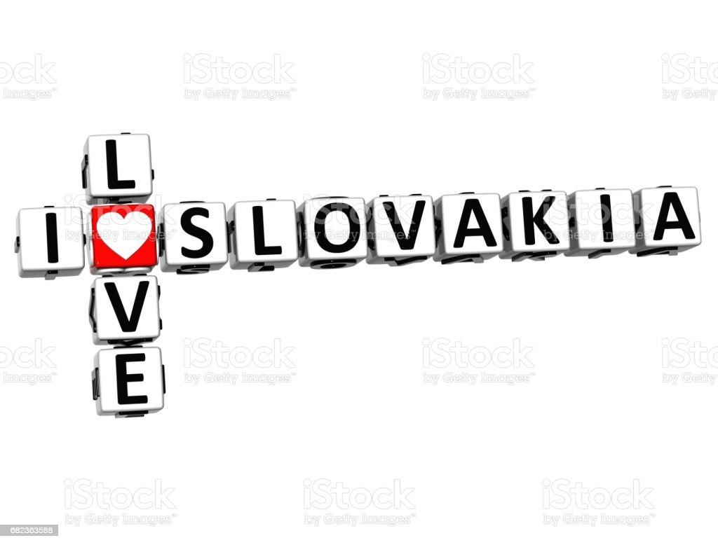 3 D スロバキア クロスワードを大好き ロイヤリティフリーストックフォト
