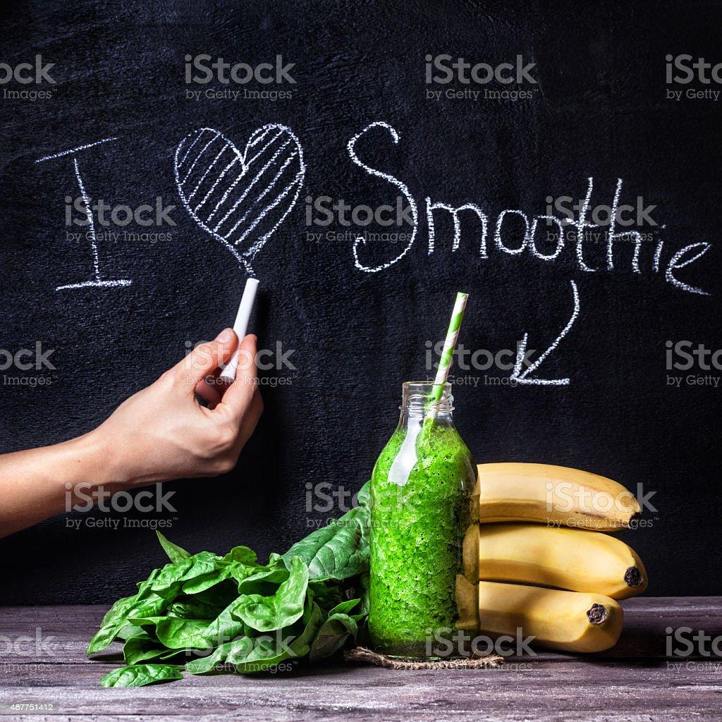 I love smoothie stock photo