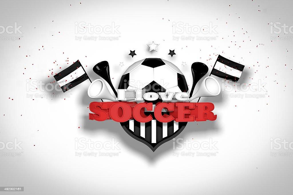 I love soccer stock photo