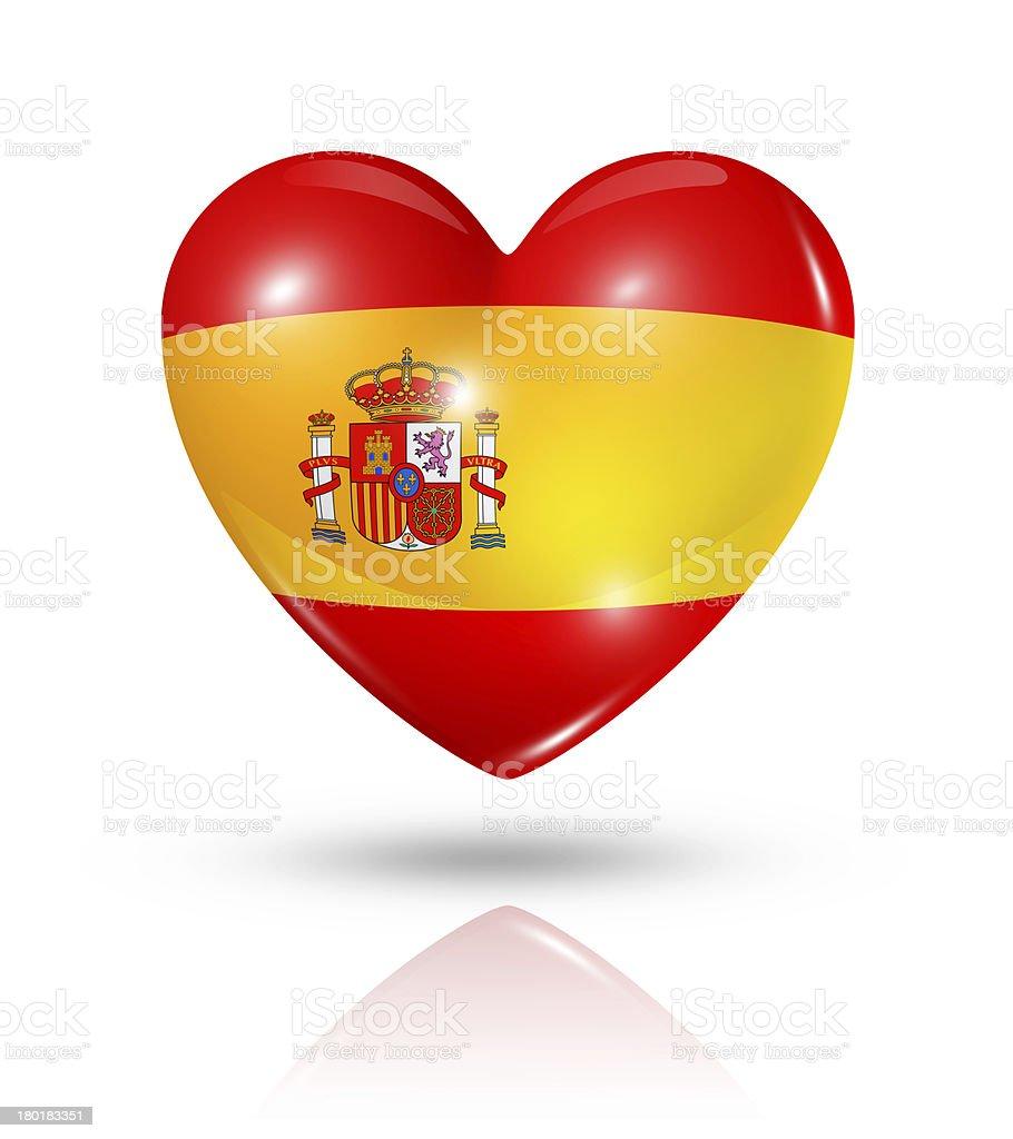 Amor espa a bandera icono del coraz n fotograf a de for Fotos del corazon