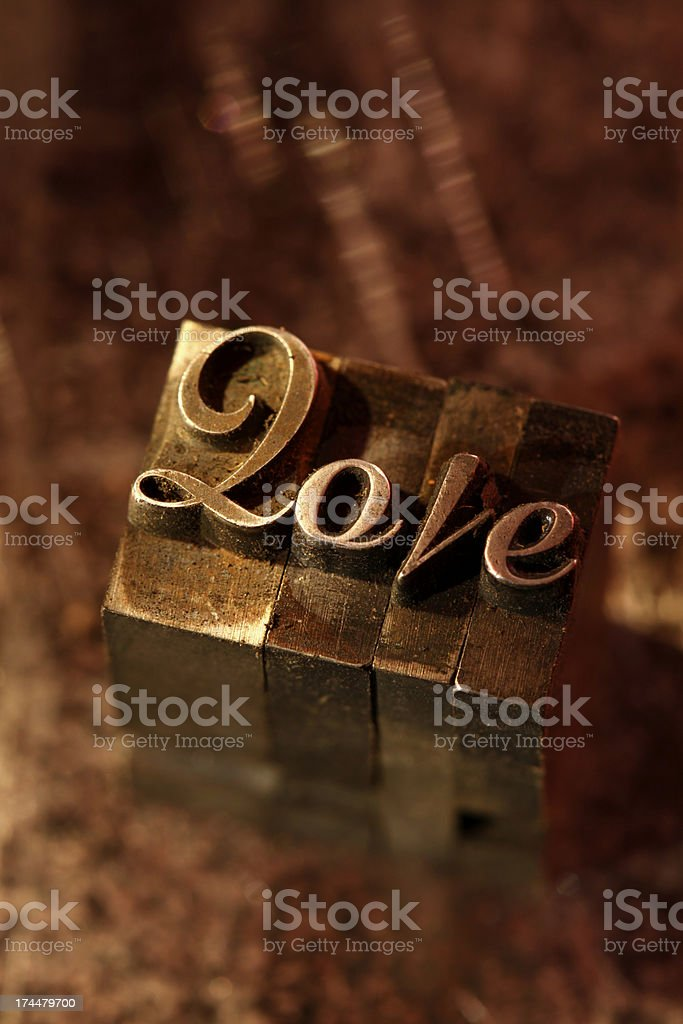 Love Spelled Out royalty-free stock photo