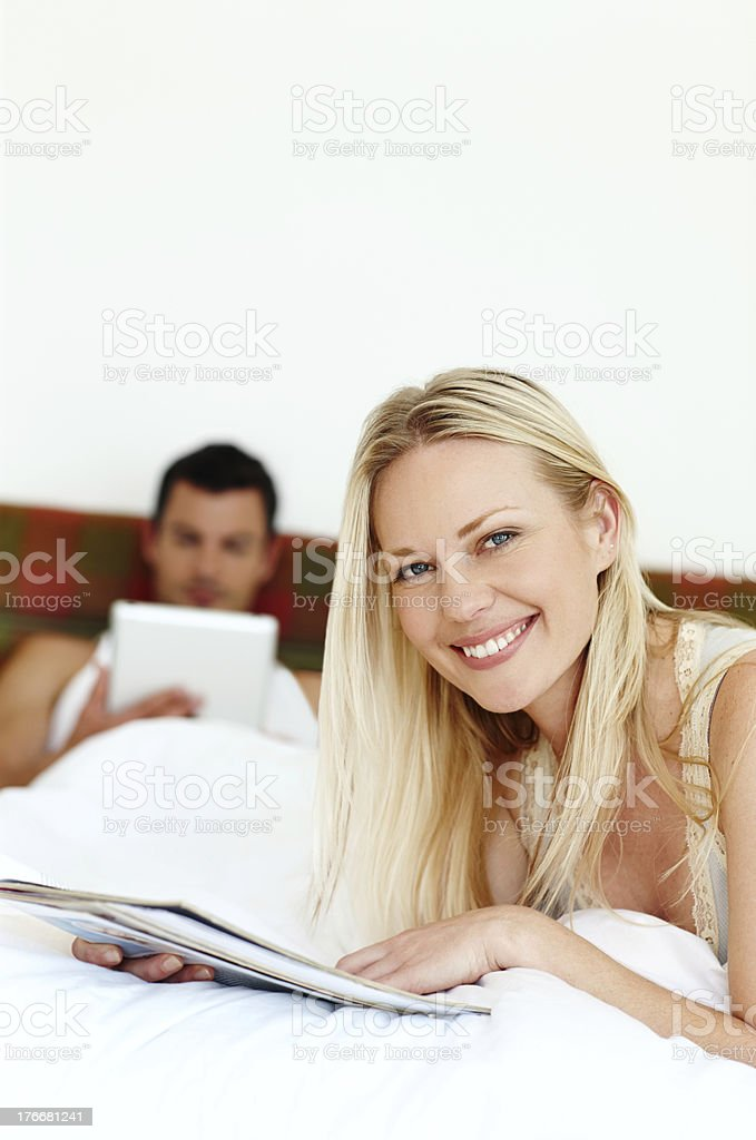 I love spending some down time with my husband royalty-free stock photo