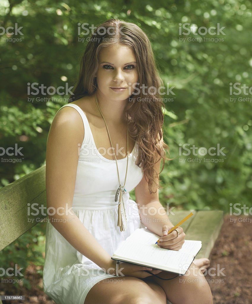 I love spending time in nature royalty-free stock photo