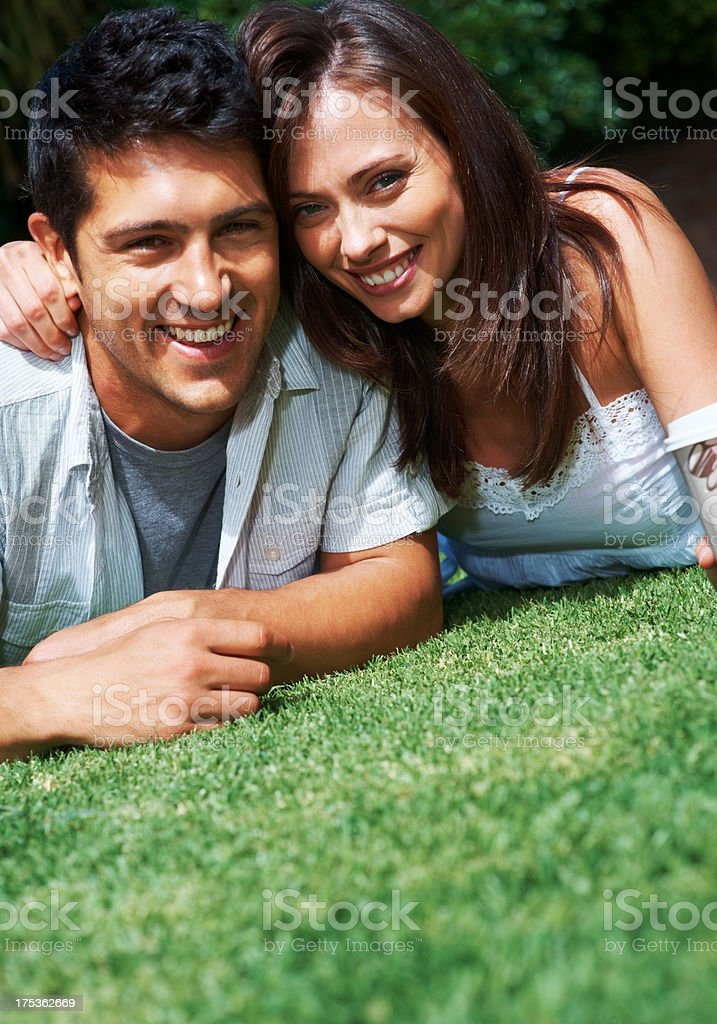 Love springs anew! stock photo