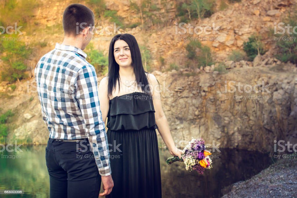 A love story in nature foto de stock royalty-free