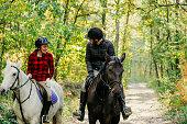 Europe, Horse, Horseback Riding, Dog, Couple - Relationship