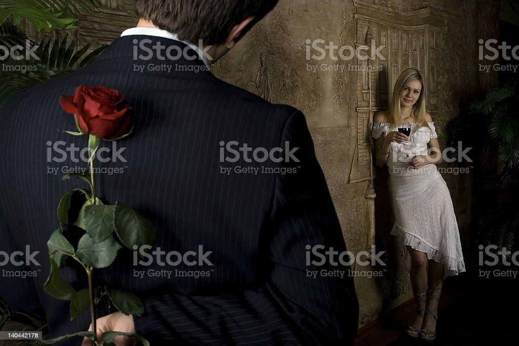 love story (rose sensuality) royalty-free stock photo