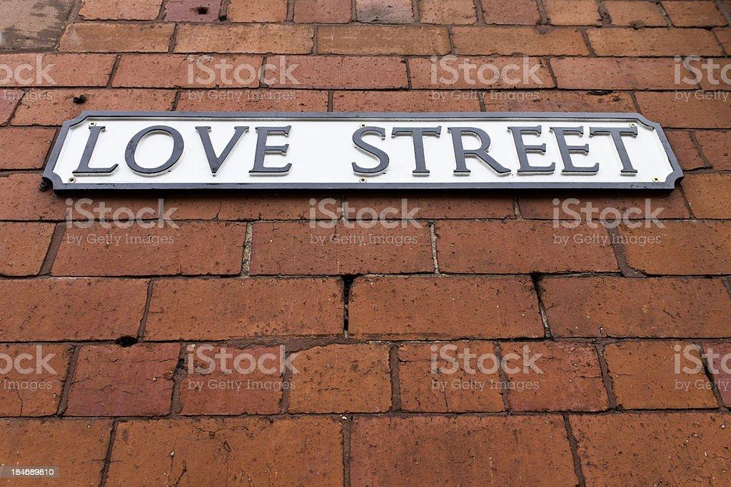 Love Street Sign royalty-free stock photo