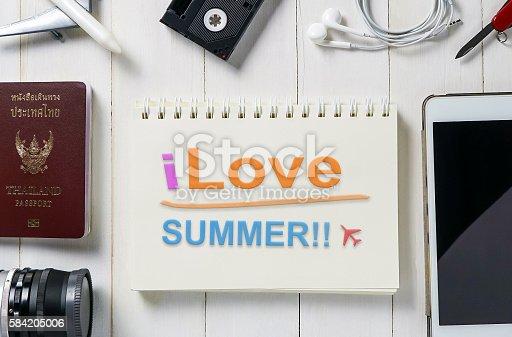 istock I love summer travel poster banner 584205006