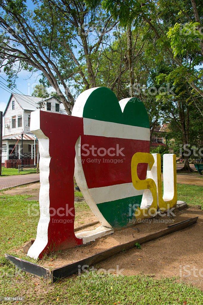 I Love Suriname stock photo