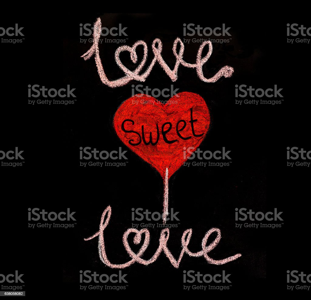 Love sweet love stock photo
