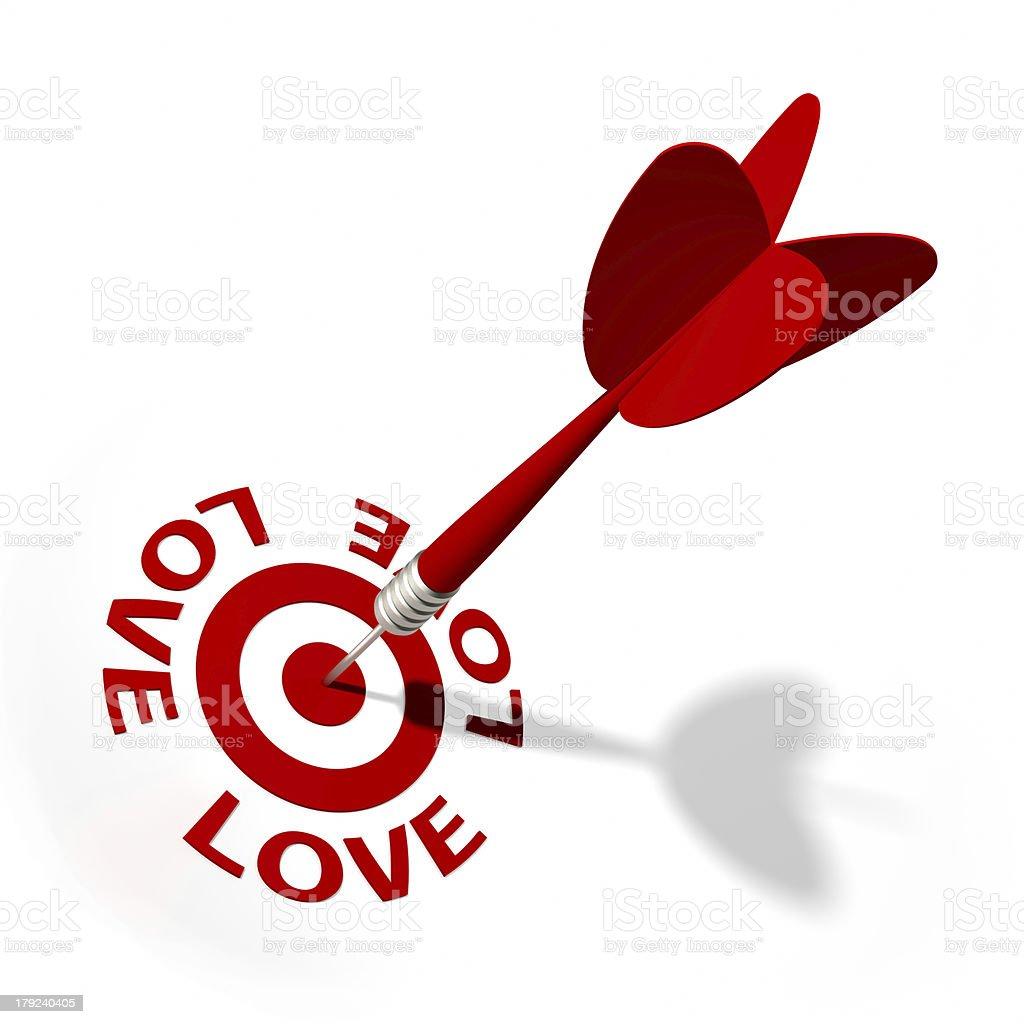 Love Target royalty-free stock photo