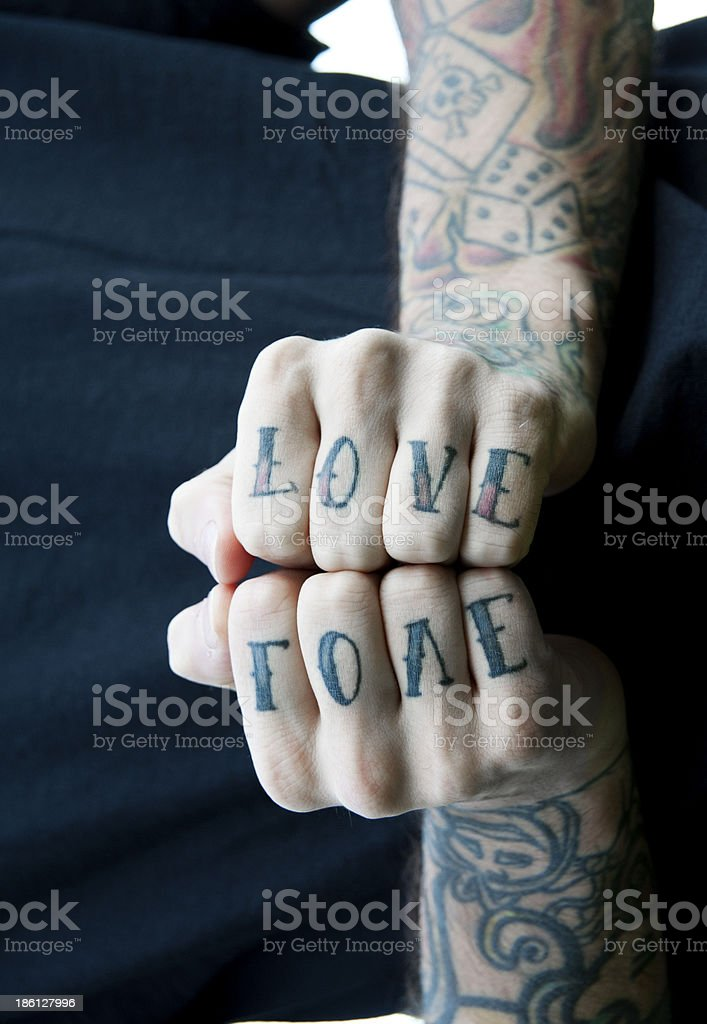 Love tattoo stock photo
