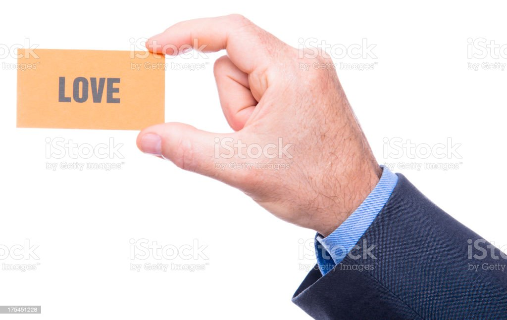 Love text on greetings card royalty-free stock photo