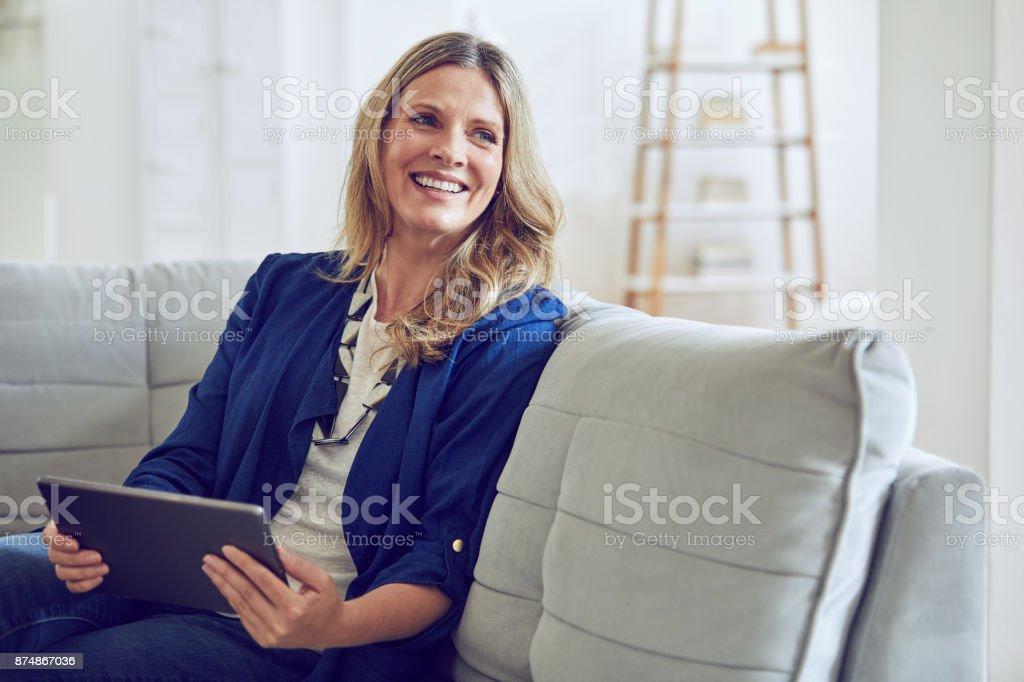 Ich liebe, dass ich kann von meinem Sofa Forschung – Foto