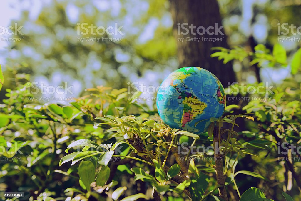 Love the Earth, from the beginning of our own stock photo