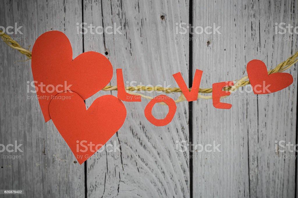 love the inscription from paper to rope zbiór zdjęć royalty-free