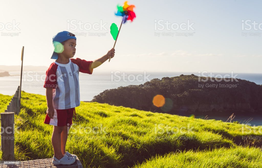 I love the purity of light and wind in New Zealand. stock photo