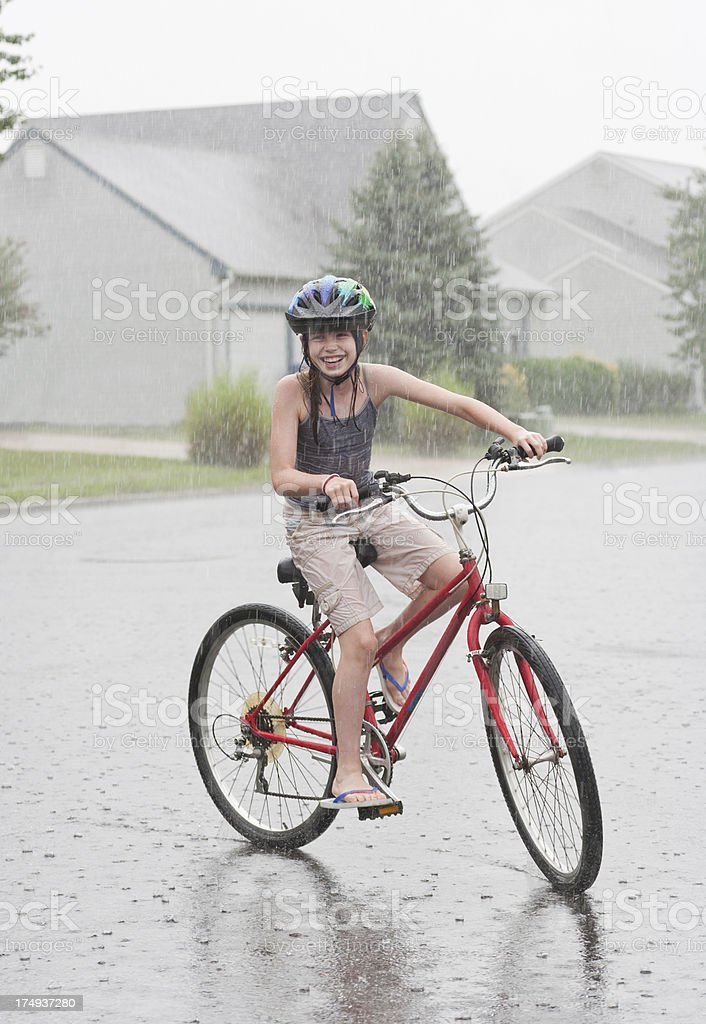I Love the Rain stock photo