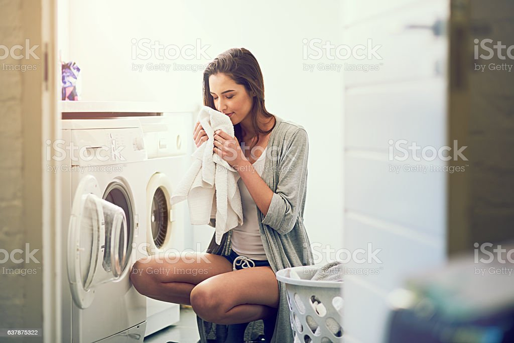 I love the smell of cleanliness stock photo