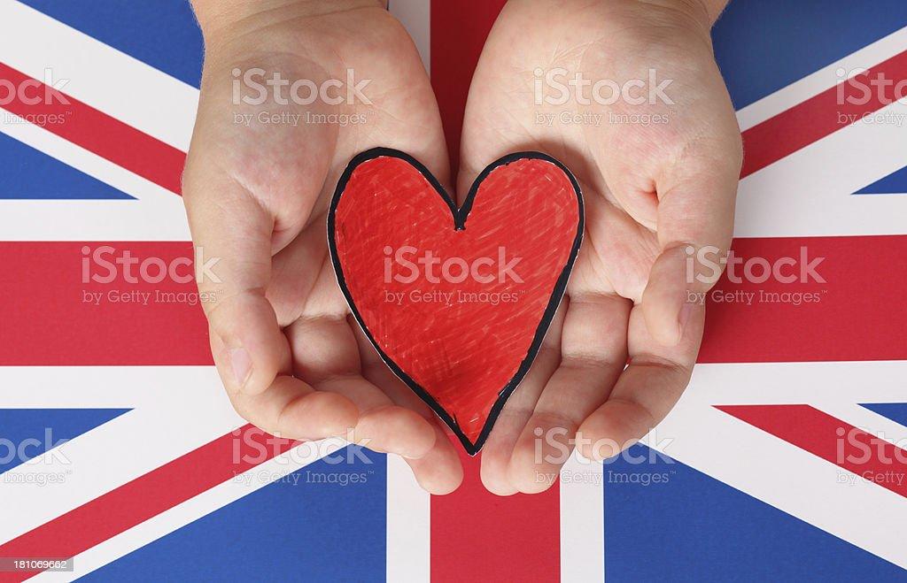 I love The United Kingdom stock photo