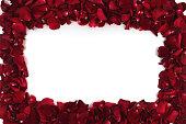 istock Love theme frame, red rose border 1183639381