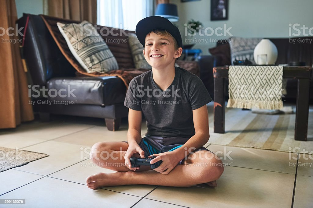 I love this game stock photo