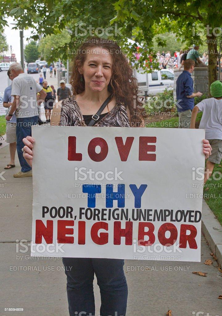 Love Thy Neighbor stock photo