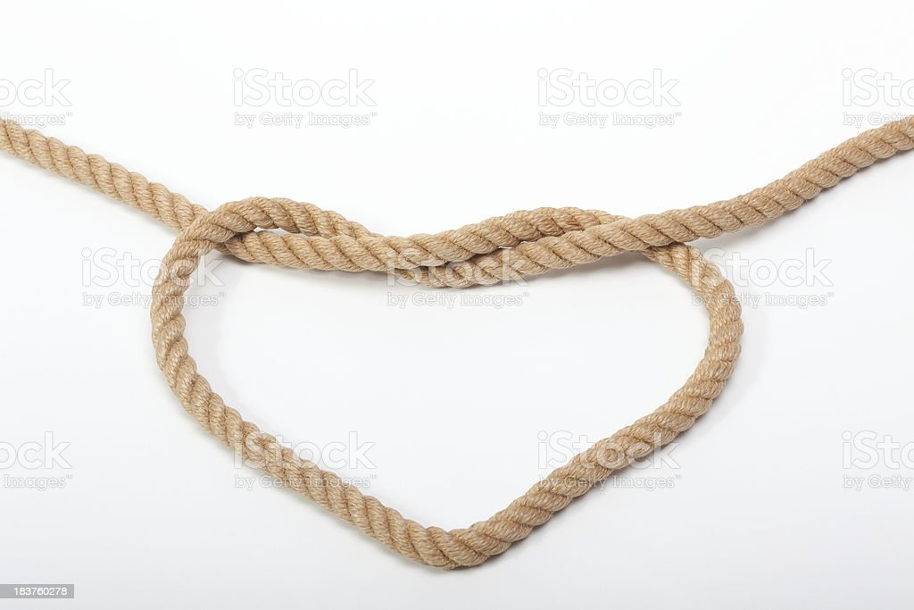 Love tied royalty-free stock photo