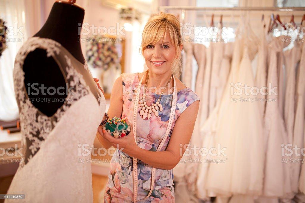 Love to design wedding dresses stock photo