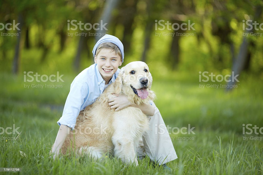 Love to dog royalty-free stock photo