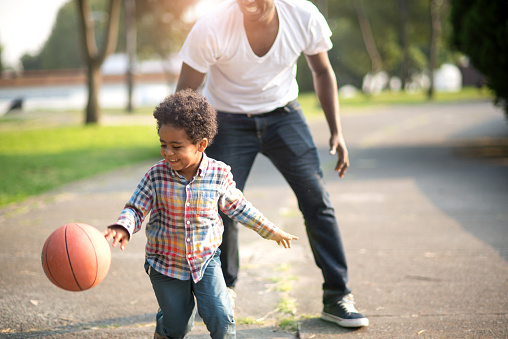 997711042 istock photo Love to play basketball 945241410