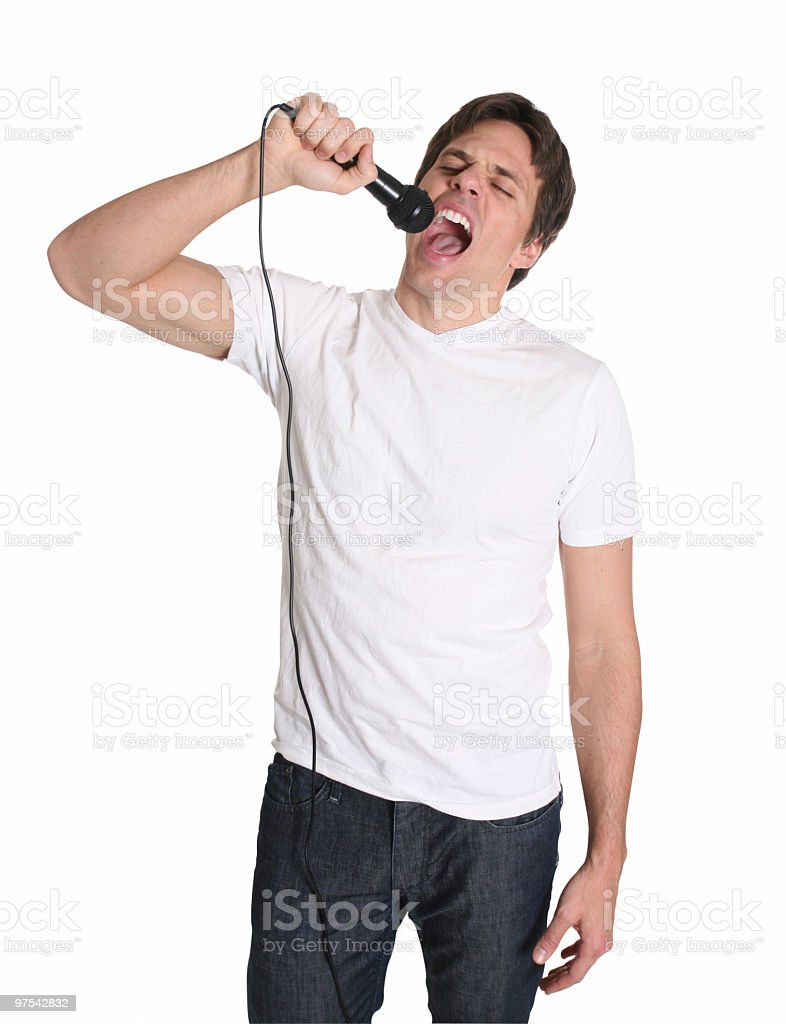 I love to sing royalty-free stock photo