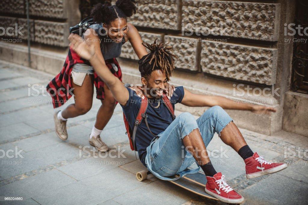 Love to skate together zbiór zdjęć royalty-free